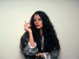 Actress Sonia Braga, Holding Cigarette Premium Photographic Print by David Mcgough