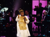 Singer Aretha Franklin Performing at Vh1 Divas Live Premium Photographic Print by Marion Curtis