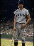 NY Yankees Right Fielder Roger Maris with Bat Waiting for his Turn at Bat during 61 Homer Season Premium Photographic Print by Robert W. Kelley