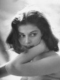 Actress Pier Angeli, 22, Posing in the Woods Premium Photographic Print by Allan Grant