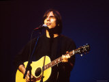 Singer Jackson Browne Performing Premium Photographic Print by Dave Allocca