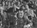 Howard R. Hughes Testifying at Hearing Before the Senate War Investigation Committee Premium Photographic Print by Martha Holmes