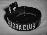 Stork Club Ashtray with a Stork Emblazoned Book of Matches on Table in This Exclusive Night Club Photographic Print by Alfred Eisenstaedt