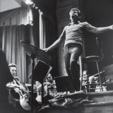 Maestro Leonard Bernstein Conducting the NY Philharmonic Orchestra for a Concert at Carnegie Hall Premium Photographic Print by Alfred Eisenstaedt