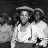 African American Men Rounded Up After Wartime Race Riots Between Blacks and Whites Photographic Print by Gordon Coster