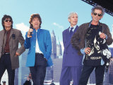 Musicians Ronnie Wood, Mick Jagger, Charlie Watts and Keith Richards of the Rolling Stones Premium Photographic Print by Dave Allocca