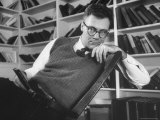 Poet Robert Lowell in His Study at Home Premium Photographic Print by Alfred Eisenstaedt