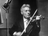 Fritz Kreisler, Austrian Born Violinist and Composer, Playing the Violin in an NBC Studio Premium Photographic Print by Alfred Eisenstaedt