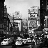 View of Taxi and Traffic Congestion on Broadway Looking North from 45th Street Photographic Print by Andreas Feininger