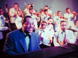 Jazz Musician Duke Ellington Performing with His Band Premium Photographic Print by Eliot Elisofon