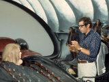 "Director Roger Vadim and Jane Fonda Working on Movie ""Barbarella"" Near Rome Premium Photographic Print by Carlo Bavagnoli"