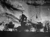 "Igor Stravinsky Bowing After His Ballet Suite, ""The Fairy's Kiss"" at Red Rocks Amphitheater Premium Photographic Print by John Florea"