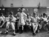 Boys Club Little League Baseball Players Putting on Their Uniforms Prior to Playing Game Photographic Print by Yale Joel