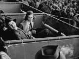 Alfred G. Vanderbilt and Alice G. Preston Sitting in a Grandstand Box at the Santa Anita Racetrack Premium Photographic Print by Rex Hardy Jr.