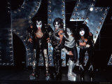 Rock Group Kiss at Press Conference Premium Photographic Print by Dave Allocca
