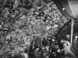 American Bomber Crew in the Frigid Aleutian Islands Play Cards While Relaxing in Their Quonset Hut Premium Photographic Print by Dmitri Kessel
