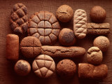 Still Life of Organic Breads from a Bakery in California Fototryk i hj kvalitet af Henry Groskinsky