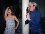 Actress Pia Zadora Posing for Pop Artist Andy Warhol Premium Photographic Print by David Mcgough