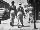 Pair of Zoot Suit Wearing African American Men Walking Down the Street and After Wartime Race Riots Premium Photographic Print by Gordon Coster