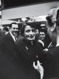 Author Ayn Rand Chatting with Admirers at National Book Awards Premium Photographic Print by Alfred Eisenstaedt