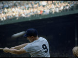 Ny Yankees Right Fielder Roger Maris Swinging Bat in Game During Record Breaking 61 Homer Season Premium Photographic Print by Robert W. Kelley