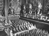 Room in the Hall of the Gods is Crowded with Big and Little Buddha's, at Kumbun Lamaist Monastery Premium Photographic Print by Mark Kauffman