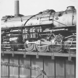 Locomotive of Norfolk-Western Railroad at Shaffers Crossing in Norfolk, Western Railway Yard Photographic Print by Walker Evans