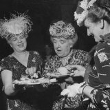 Members of the Women's Club of Chevy Chase Enjoy Canapes at Their Tea Party Photographic Print by Ed Clark
