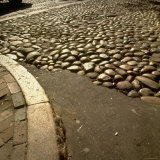 Good Example of American Stonework, famous cobblestones of Main Street in Nantucket 1850 Photographic Print by Walker Evans