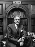 IBM Pres. Thomas J. Watson Jr. in Office Premium Photographic Print by Alfred Eisenstaedt