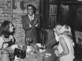 Actors Sammy Davis Jr. and Richard Burton and May Britt Premium Photographic Print by Leonard Mccombe