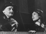 Actor Art Carney and Lois Smith During Scenes of Skits in His Show Premium Photographic Print by Leonard Mccombe