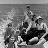 Kennedy Family: Robert, Joe Jr, Patricia, Eunice, Jean, Rose and Ted Premium Photographic Print by Alfred Eisenstaedt