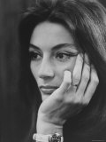 Actress Anouk Aimee Premium Photographic Print by Bill Eppridge