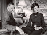 Italy Fiat President Giovanni Agnelli with His Wife at Home Near Turin Premium Photographic Print by David Lees