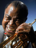Portrait of Jazz Musician Louis Armstrong Premium Photographic Print by John Loengard