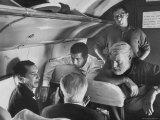 Matadors Luis Miguel Dominguin and Antonio Ordonez, with American Writer Ernest Hemingway Premium Photographic Print by James Burke