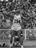 Shot Putter Milt Campbell Competing in the Olympics Premium Photographic Print by John Dominis