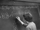 "Student at Blue Island High School Doing a Math Problem in ""Boolean"" Algebra Premium Photographic Print by Al Fenn"