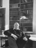 Portrait of Winston Churchill in His Study at Chartwell Premium Photographic Print by Alfred Eisenstaedt