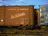 "Railroad Box Cars, One with Logo of Louisville and Nashville Railroad and Name ""The Old Reliable"" Premium Photographic Print by Walker Evans"