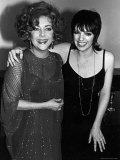 Actresses Elizabeth Taylor and Liza Minnelli at a Gala Dinner Party Premium Photographic Print by David Mcgough