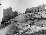 Workmen Clearing Rubble from Ruins of 6th Century Monte Cassino between Allies and Germans in WWII Photographic Print by Alfred Eisenstaedt