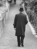 Konrad Adenauer Strolling Up the Footwalk to His Rhondorf Home Premium Photographic Print by Ralph Crane