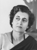 Mrs. Indira Gandhi Premium Photographic Print by Larry Burrows