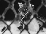 Hockey: Montreal Canadians Bernard Boom Boom Geoffrion Alone, Shooting Premium Photographic Print by Yale Joel