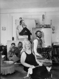 Painter Alice Neel in Her Studio Premium Photographic Print by Alfred Eisenstaedt