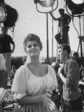 Actress Sophia Loren During Break on Movie Set Premium Photographic Print by Alfred Eisenstaedt