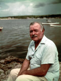 "Author Ernest Hemingway at Cuban Fishing Village Like the One in Book ""The Old Man and the Sea"" Premium Photographic Print by Alfred Eisenstaedt"