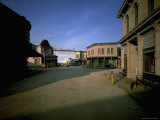 Gunfight at the O.K. Corral and True Grit, Shot in Back Lot of Paramount Pictures Fototryk i hj kvalitet af Henry Groskinsky